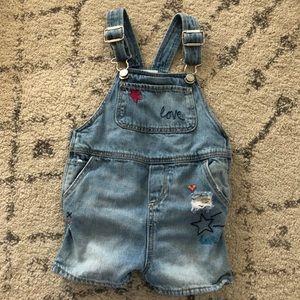 Baby girl summer overalls